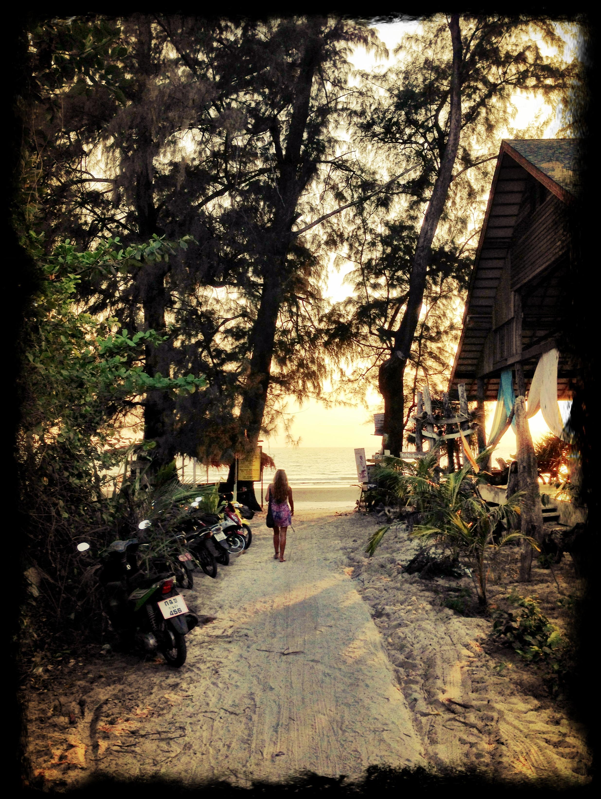 Thailand Beach road